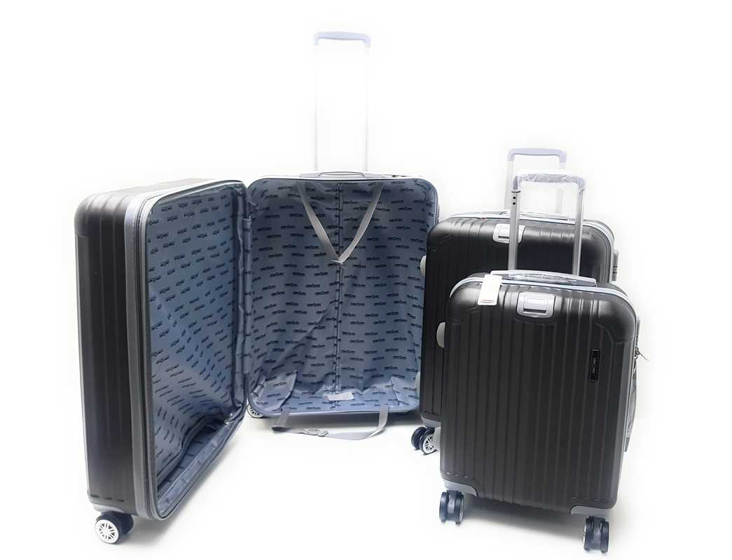 Set 3 Trolley Valige Espandibile in  ABS rigido 8 Ruote con Trolley Ryanair Cm.55x40x20