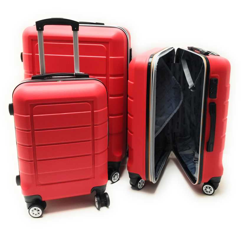 Set tre Trolley in ABS rigido 8 Ruote Clacson Linea ZIP COLORS con Trolley Bagaglio a mano Easyjet low cost - Foto4