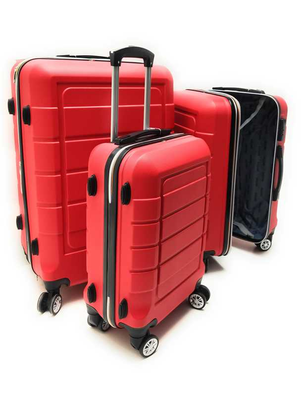 Set tre Trolley in ABS rigido 8 Ruote Clacson Linea ZIP COLORS con Trolley Bagaglio a mano Easyjet low cost - Foto5