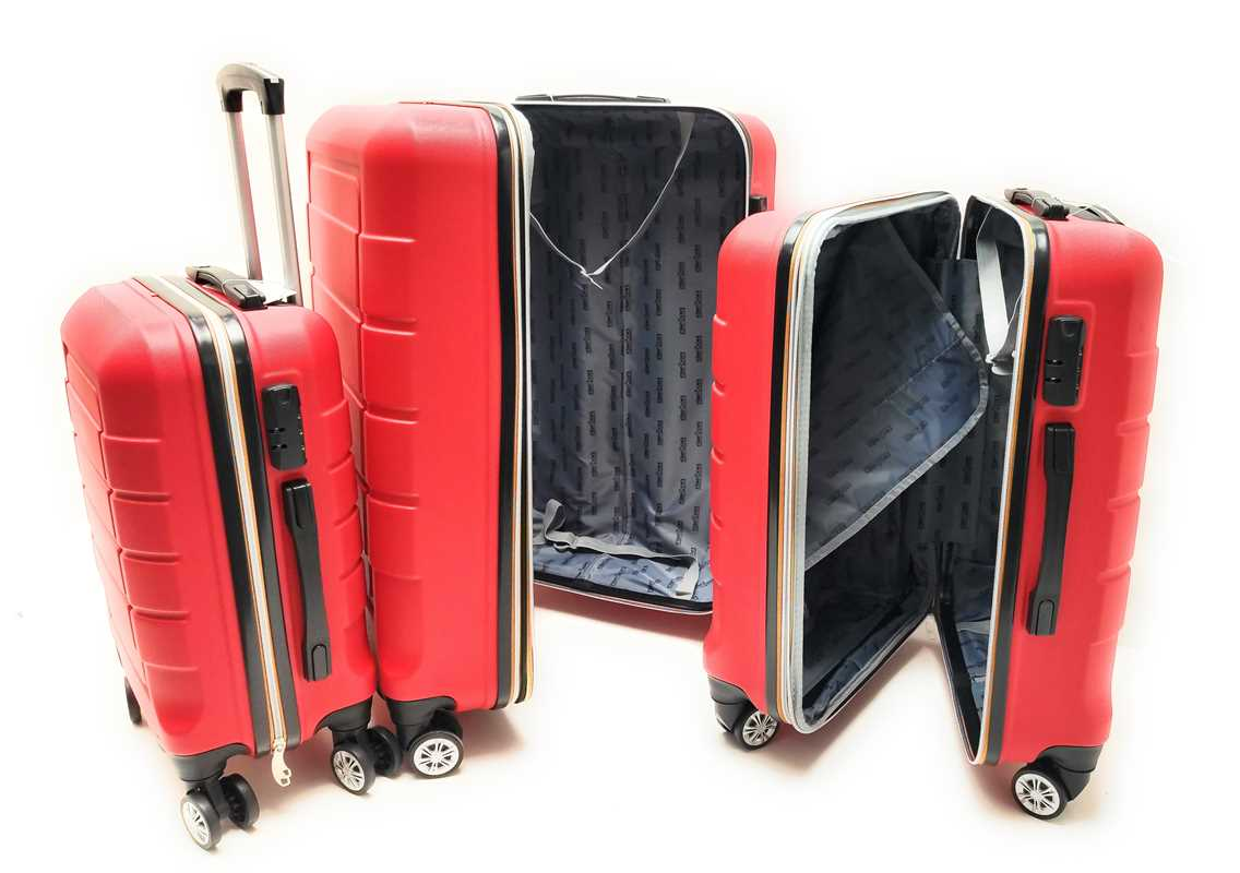 Set tre Trolley in ABS rigido 8 Ruote Clacson Linea ZIP COLORS con Trolley Bagaglio a mano Easyjet low cost - Foto3