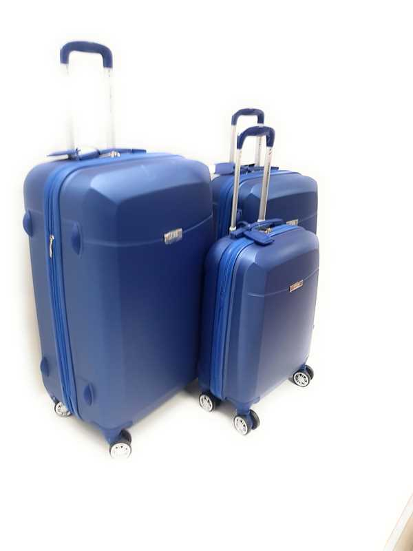 Set 3 Trolley Coveri Collection Rigido ABS con 8 ruote e Trolley Ryanair bagaglio a mano idoneo cm.55x40x20