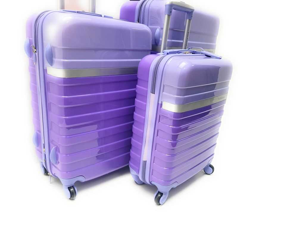Set 3 Trolley Abs Rigido 4 Ruote Lucido You Young Coveri con Lucchetto TSA e Trolley Ryanair
