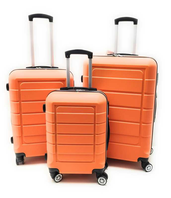 Set tre Trolley in ABS rigido 8 Ruote Clacson Linea ZIP COLORS con Trolley Bagaglio a mano Easyjet low cost