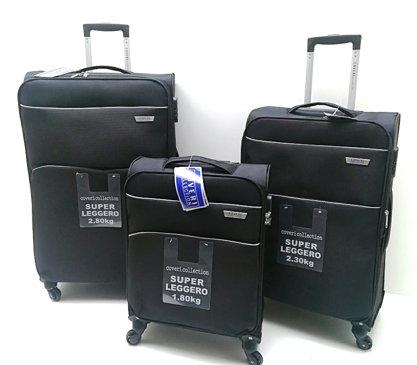 Set 3 Trolley Coveri Collection 4 ruote,leggero,semirigido con Trolley Ryanair